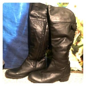 SALE Bx by Bronx leather knee high boots 7.5 euc